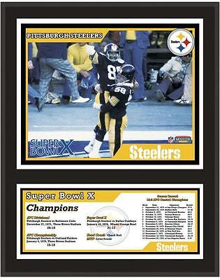 """Pittsburgh Steelers 12"""" x 15"""" Sublimated Plaque Super Bowl X"""