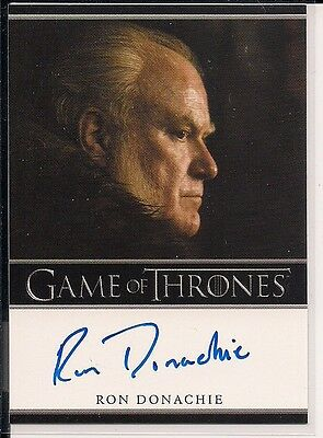 2014 Game of Thrones Season Three Bordered Autographs Ron Donachie Rodrik Cassel