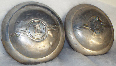 1934 1935 Buick Wheel Cover Hubcap Artillery Wire Spoke Used Pair