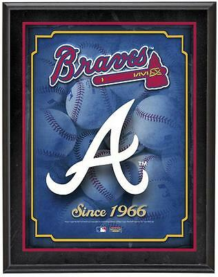 "Atlanta Braves Team Logo Sublimated 10.5"" x 13"" Plaque"