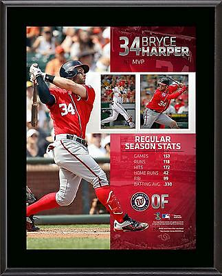 "Bryce Harper Washington Nationals 10.5"" x 13"" 2015 National League MVP Plaque"