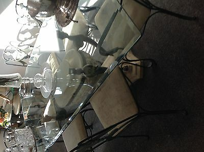Fantastic totally unusual Barker &Stonehouse dining table & 6 chairs cost £4000