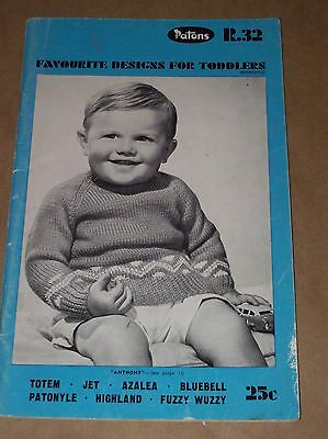 Patons R.32 Favourite Designs For Toddlers - Knitting Pattern Book