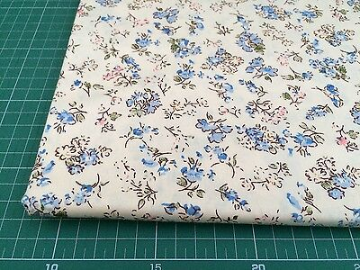 Fat Quarters 100% COTTON QUILTING FABRIC Blue Flower Floral bf6