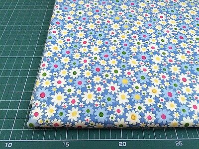 Fat Quarters 100% COTTON QUILTING FABRIC Blue Flower Floral bf1