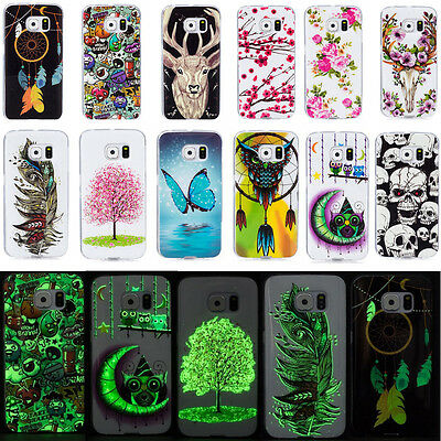 Luminous Soft Silicon Cover Fluorescence Patterned TPU Case For Samsung Galaxy