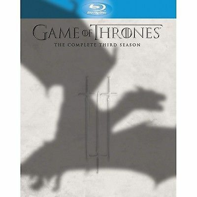 Game Of Thrones - Series 3 - Complete (Blu-ray, 2014, 5-Disc Set) Brand New
