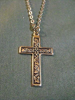 """Vintage Cross Necklace With 18"""" Chain"""