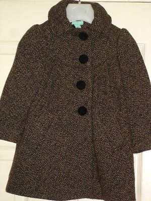Monsoon Girls Stylish Classic Wool Blend Coat age 3/4yrs