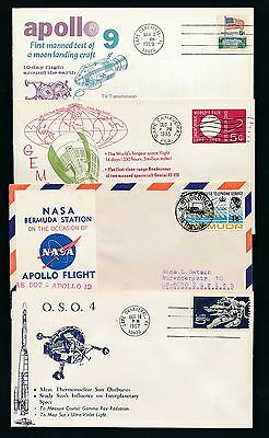 83203) Weltraum Raketen space, 7 cards/covers... up to 1969, mostly USA