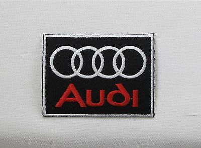 AUDI Motorsport BLACK & RED WBorder Iron/sew on embroidered patch A1 A3 A4 A5