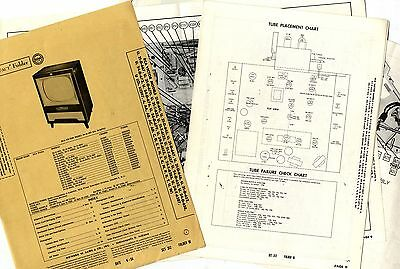 Rca Victor - Models 21-D-461 To 24-T-6287   Photofact Folder - Service Manual
