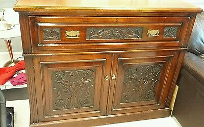 Spectacular Edwardian Antique Bureau / Desk