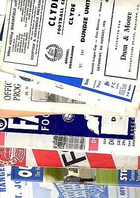 10 x Scottish League Programmes 1964 - 2007 Listed 5