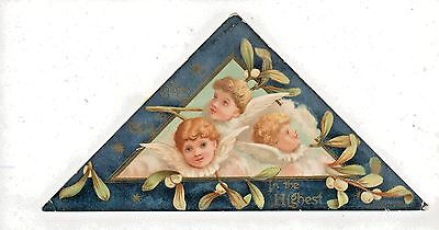 Victorian Merry Christmas Card Compliments Of Chas W. Buetzner