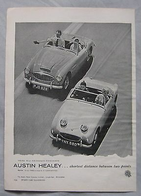 1958 Austin Healaey 100-Six & Sprite Original advert No.2