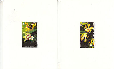 Orchids-New Caledonia-1991- Orchids set of 2 deluxe proof sheets -superb item