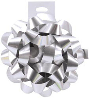 """Silver - Carnival Bow 4.5"""""""