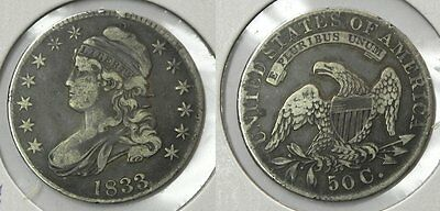 1833 Capped Bust Half Dollar, VF, O-111 - Part of Bust Half Collection