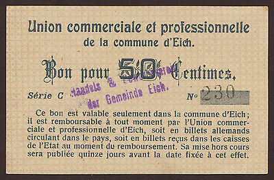 Luxemburg / Luxembourg Eich 50 Centimes Serie C  aUNC