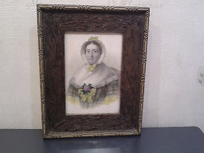 Antique  Framed  Miniature  Portrait  Of  Mrs Catherine Bruce  Of Clackmannan