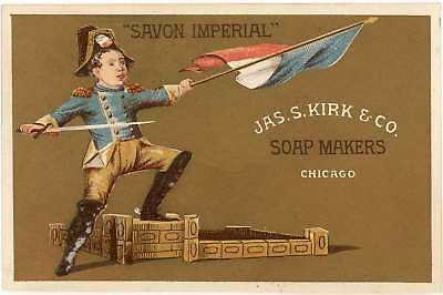 Savon Imperial Soap, Jas. S. Kirk & Co., Chicago - Victorian Trade Card