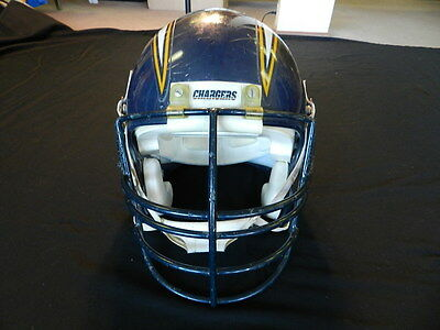 Courtney Hall 1991 San Diego Chargers game used helmet