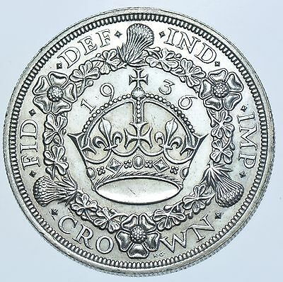 Very Rare 1936 Wreath Crown British Silver Coin From George V [Only 2473 Struck]