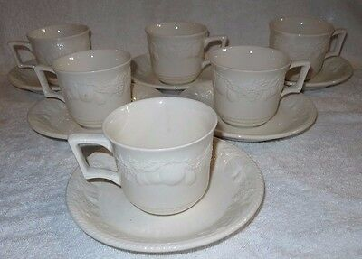 6 x BRITISH HOME STORES BHS LINCOLN TEA CUPS & SAUCERS