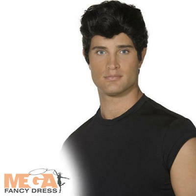 Danny 50s Grease Wig 1950s Fancy Dress Adults Mens Fifties Costume Accessory New