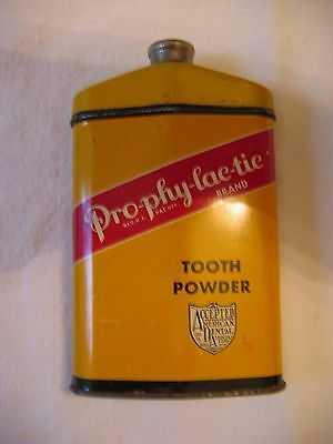 PRO-PHY-LAC-TIC Large Tooth Powder Tin Florence Massachusetts