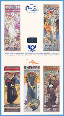 Czech - 150 Years Alfons Mucha stamp sheet 6 stamps new