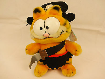 Garfield Soft Toy Plush. Pirate with tags. 100% pure Garfield.