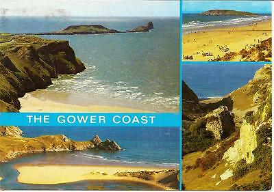 The Gower Coast - Views ,Posted Postcard