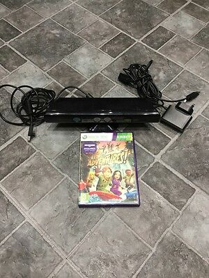 Official Microsoft Xbox 360 Kinect Motion Sensor Controller + Power Supply