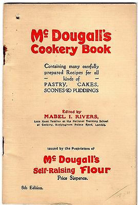 VINTAGE RECIPE COOK BOOK 1930's ADVERTISING McDOUGALL'S SELF RAISING FLOUR