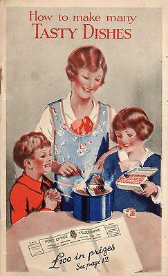 """VINTAGE RECIPE COOK BOOK 1930's ADVERTISING OXO STOCK CUBES """"TASTY DISHES"""""""