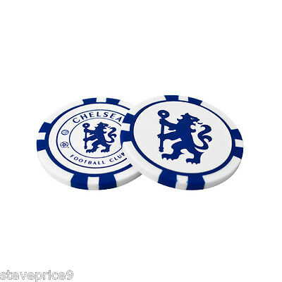 Chelsea Fc 2 Poker Chip Golf Ball Markers In Gift Set