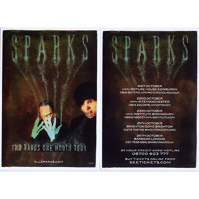 SPARKS - Two Hands One Mouth Double Sided Flyer - 2012