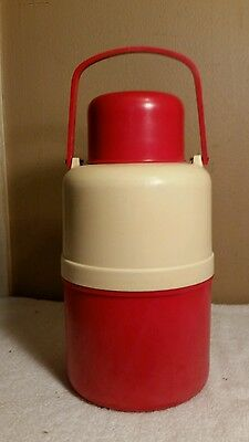 Vintage Thermos Jug With Vintage Tropical Cannery Bottle Insert