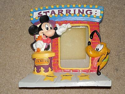 Walt Disney Mickey Mouse Pluto Picture Photo Frame Used Starring