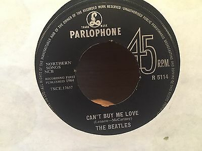 "7"" Rare Vinyl - The Beatles - Cant Buy Me Love - Parlophone R5114 - 1964"