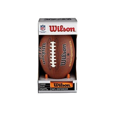 Wilson NFL Enforcer Football & Tee Set Junior Size Ages 9 & Up PLEASE READ A342