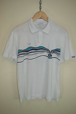 vtg 80s ADIDAS IVAN LENDL 'THE FACE' OLDSCHOOL RARE VENTEX CASUALS POLO SHIRT L