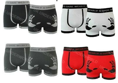 pk of 3 Pairs Mens Boxer Shorts Seamless Trunks Briefs Adults Underwear Designer