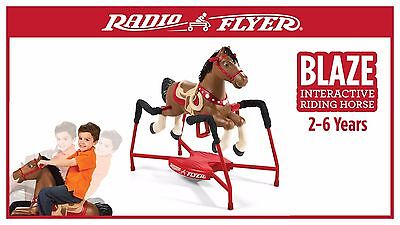 Horse Radio Flyer Blaze Interactive Spring Ride Rocking Kids Toy Riding New Play