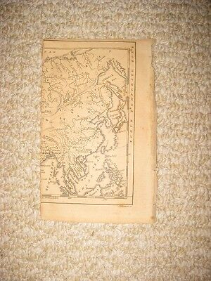 Antique 1815 Asia Copperplate Map Fragment China Korea Japan Philippines Rare Nr