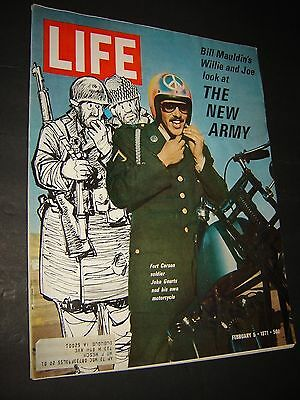 """Life Magazine,  February 5,1971  """" The New Army  """"  Cover !!"""