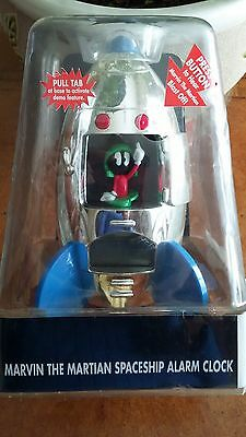 Marvin the Martian Spaceship Clock NRFB, NEW in Original Boxing