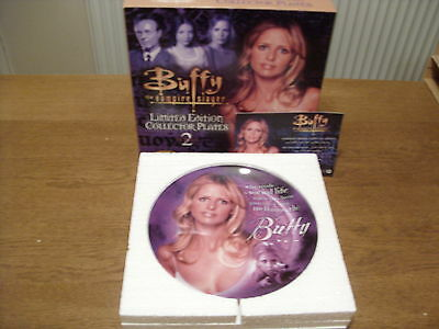 BUFFY The VAMPIRE SLAYER Series 2 Ltd Ed Collector Plate + COA - 'BUFFY'